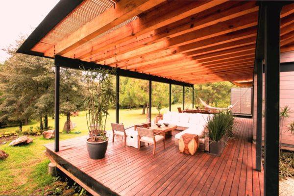 pergola bioclimatica de madera proftek